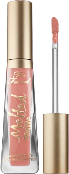 Shop Too Faced's Melted Matte Liquified Matte Long Wear Lipstick at Sephora. This ultra-matte lipstick has the staying power of a stain and the intense color of a liquid lipstick. Lipstick For Fair Skin, Long Wear Lipstick, Lipstick Dupes, How To Apply Lipstick, Lipstick Swatches, Lipstick Colors, Liquid Lipstick, Lip Colors, Matte Lipsticks