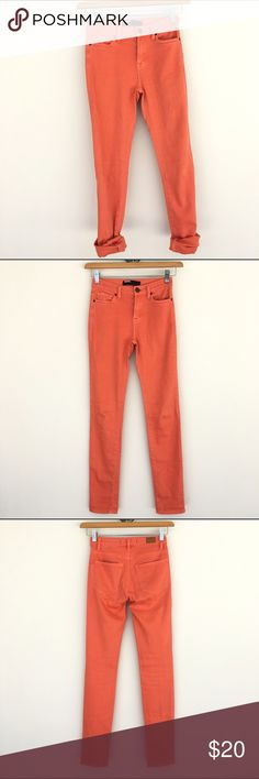 BDG high waisted orange jeans BDG high waisted orange jeans. Super soft fabric. Lightly worn. Skinny fit. Size 24, length 30. BDG Jeans Skinny