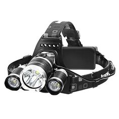 Flashlights - InnoGear 5000 Lumens Max Bright Headlight Headlamp Flashlight Torch LED with Rechargeable Batteries and Wall Charger for Hiking Camping Riding Fishing Hunting *** You can find more details by visiting the image link.