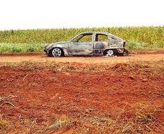 Kadett e encontrado queimado com uma pessoa dentro na região de Terra Boa