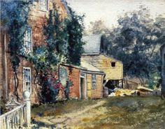 Old House, Nantucket - Childe Hassam