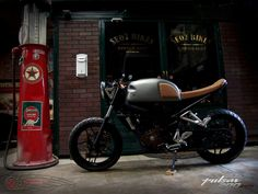 Bajaj Pulsar ns 200 by Seoz Bikes. Cafe racer. Modified motorcycle   #caferacer…