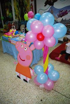 fiestas infantiles tematicas peppa - Buscar con Google Third Birthday, Happy Birthday, Fiestas Peppa Pig, Aniversario Peppa Pig, Pig Party, Party Decoration, Ideas Para Fiestas, Birthday Parties, Girl Parties