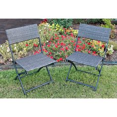 *** SET OF 2 @Overstock.com.com - These Resin/Steel Folding Chairs will add a stylistic blend of the antique and the modern to any patio setting. These chairs have a striking Resin Weave/Steel build and folding capability for easy storage and deployment.http://www.overstock.com/Home-Garden/Castillo-Resin-Steel-Folding-Chairs-Set-of-2/7213485/product.html?CID=214117 $122.99