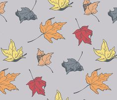 falling leaves fabric by magennabrinkprints on Spoonflower - custom fabric