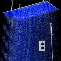 Pegasus Best Huge Shower System Rainfall DIYHomeDiscounts with Hand Sprayer Huge Shower, Shower Set, Rain Shower Bathroom, Bathroom Design Luxury, Modern Bathroom Decor, Basement Movie Room, Douche Design, Waterfall Shower, Shower Remodel