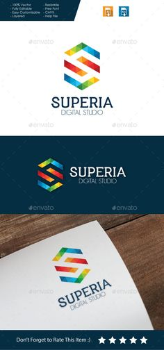 Superia Letter S - Logo Design Template Vector #logotype Download it here: http://graphicriver.net/item/superia-letter-s-logo-/10694578?s_rank=715?ref=nesto