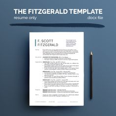 The Fitzgerald (Resume Only) => More at designresources.io