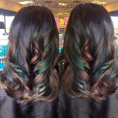 Oil slick hair @nico