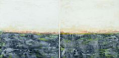 "Saatchi Art Artist filippo bertoncello; Painting, ""Abstract scape 4/14 diptych"" #art"