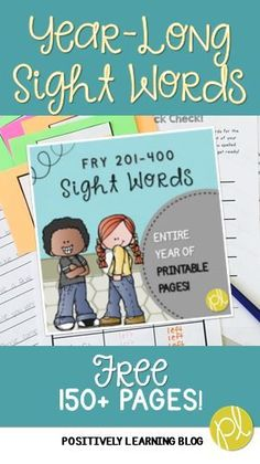 Sight Words ALL Year! If you are looking for resources using a systematic approach to mastering high frequency sight words, please check out this free resource!