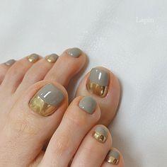 Gel Toe Nails, Feet Nails, Pedicure Nails, Toe Nail Art, Cute Acrylic Nails, Stylish Nails, Trendy Nails, Feet Nail Design, Asian Nails