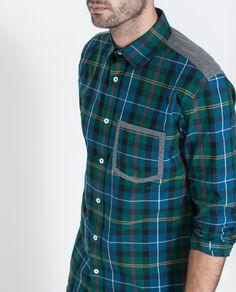 CAMISA CONTRASTES CIRCULAR - Camisas - Hombre | ZARA España