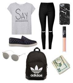 """Untitled #6"" by quinceyq ❤ liked on Polyvore featuring MANGO, Steve Madden, NARS Cosmetics, adidas Originals and Topshop"