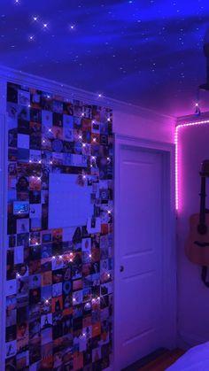 Neon Bedroom, Room Design Bedroom, Room Ideas Bedroom, Diy Bedroom Decor, Diy Room Decor For Teens, Teen Room Decor, Chambre Indie, Cute Room Ideas, Indie Room