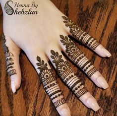 Simple Mehndi Designs Fingers, Pretty Henna Designs, Latest Henna Designs, Floral Henna Designs, Full Hand Mehndi Designs, Henna Art Designs, Mehndi Designs For Beginners, Fingers Design, Mehndi Designs For Hands