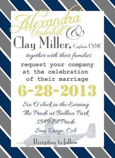 Custom Wedding Invitation, Military Wedding, Military Invite.  Lifeinlowaperture.com Find Me On