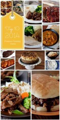 A roundup of the Top 10 pressure cooker recipes of 2014 - the most popular recipes on Pressure Cooking Today in 2014, including four of my favorite recipes of the year.