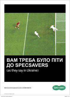 Specsavers runs tongue-in-cheek Ukrainain goal press ad   Advertising news   Campaign