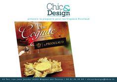 Mise en page design du dépliant destiné à un salon international chinois pour Cognac Priollaud