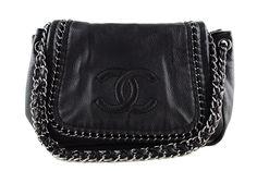Chanel Black Luxury Ligne Jumbo Flap Bag