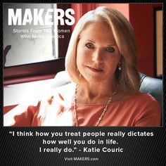 Documentary on PBS... Makers  The history of femenism.   Katie Couric is a Network News Pioneer