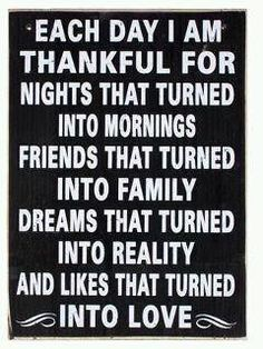 Be very thankful