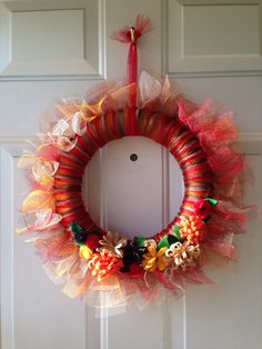 My fall tulle wreath.