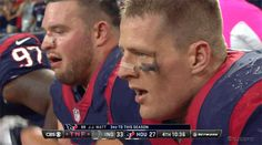 J.J. Watt's Look at the Camera on the Sideline After His Touchdown is Priceless [GIF] | FatManWriting