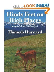 """Hannah Hurnard. This little allegory is the tale of crippled """"Much Afraid"""" who is invited by the Good Shepherd to take a  journey with Him into a new life. With the seed of love planted in her heart and her companions """"Sorrow"""" and """"Suffering"""" she makes her perilous journey to the High Places. I first read this book in high school, then out loud to Richard in college and then again in Amsterdam just after college. Since then I have read it twice more & aloud to my children. It speaks to me…"""