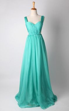 Blue Chiffon Bridesmaid Dress Prom Dress Party Dress by autoalive, $149.00