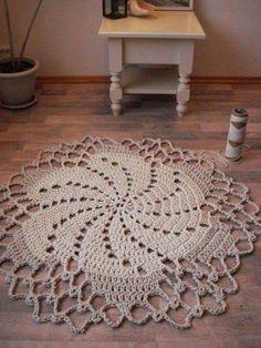 crochet rope cord giant doily rug 100 cotton by elitai on etsy - PIPicStats Plaid Au Crochet, Crochet Doily Rug, Crochet Carpet, Crochet Rope, Crochet Afghans, Cotton Crochet, Diy Crafts Crochet, Crochet Projects, Mantel Redondo A Crochet