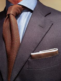Harrisson Blazer knit tie men snob brown