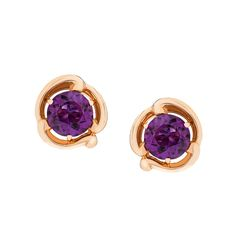 FABERGÉ - Rococo Collection - Amethyst and Rose Gold Stud Earrings