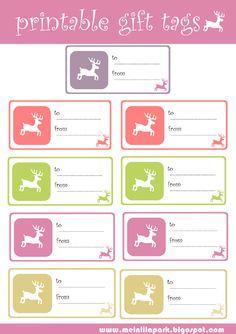 free printable reindeer gift tags | MeinLilaPark