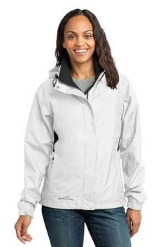 Eddie Bauer - Ladies Rain Jacket Style - Casual Clothing for Men, Women, Youth, and Children Black Rain Jacket, Rain Jacket Women, Hooded Raincoat, Hooded Jacket, Eddie Bauer, Raincoats For Women, Jackets For Women, Ladies Jackets, Jackets