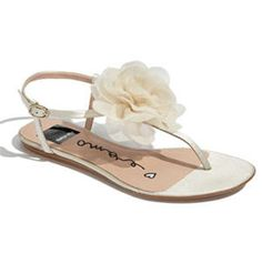 dolce vita.  beach wedding sandal. <3