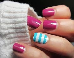 Love the colour combo here....definitely need to start practicing stripes!