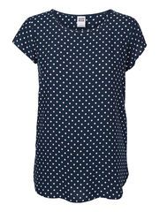 DOTTED SHORT SLEEVED TOP, Black Iris