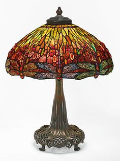 AN IMPORTANT DRAGONFLY TABLE LAMP FROM THE COLLECTION OF ANDREW CARNEGIE
