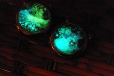 Glow In The Dark Glass Orb Galaxy Necklace. $32.00, via Etsy.