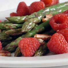 Raspberry-Asparagus Medley | MyRecipes.com #myplate #vegetable #fruit
