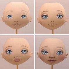 Роспись кукольного лица — один из основных способов сделать игрушку уникальной, «одушевить» ее. Именно благодаря выражению личика куклы можно создать для нее тот или иной характер — хитрый, печальн… Tiny Dolls, Soft Dolls, Doll Face Paint, Crochet Bunny Pattern, Clothespin Dolls, Doll Eyes, Sewing Dolls, Doll Repaint, Waldorf Dolls