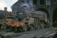 LMS Hughes Fowler 'Crab' Class 42739 simmers on Hurlford Shed April 1966 A high resolution scan of a Kodachrome II transparency. Diesel Locomotive, Steam Locomotive, Train Car, Train Tracks, Steam Trains Uk, Steam Railway, British Rail, Old Trains, Train Pictures