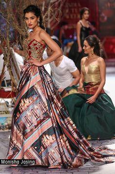 Outfit by designer Monisha Jaising
