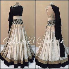 Lehengas by Misch B Couture Indian Lehenga, Lehenga Choli, Anarkali, Lehenga Designs, Indian Attire, Indian Ethnic Wear, Indian Wedding Outfits, Indian Outfits, Stylish Dresses