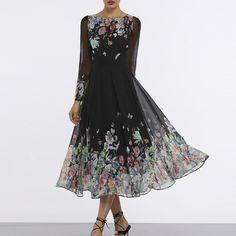 2910bab13a2 Floral Sleeveless Midi X-line Dress. Floryday DressesBuy Maxi ...