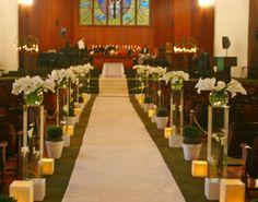 Church Wedding Decorations, Table Decorations, Banana Cream, Cream Pie, Furniture, Home Decor, Weddings, Calla Lilies, Wedding Decoration
