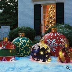 diy huge ball christmas ornaments - Google Search
