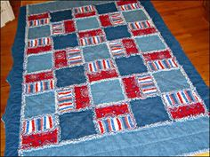 Denim rag quilt - with the colored skinny jeans in style there could be some colorful denim designs coming soon.